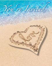 Wedding abroad Beach Party bridal Shower Hawaiian Beach theme Party Invitations