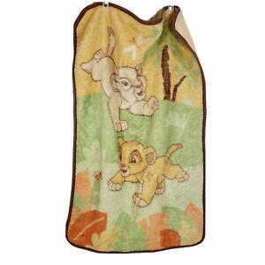 Disney Baby Simba Nala Lion King Crib Blanket Plush Fleece Lovey Throw