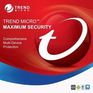 Trend Micro Maximum Security 2021 3 PC 1 Jahr
