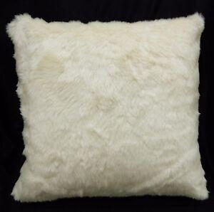Fn864a Cream White Thick Long Faux Fur Pillow Case/Cushion Cover *Custom Size
