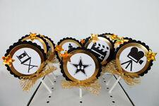 Oscar Academy Movie Theme  Cupcake Toppers, birthday party, Cake decor SET OF 10