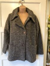 Eva Tralala grey boiled wool jacket size 10 lagenlook 🌟VGC🌟