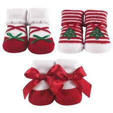Hudson Baby Girl Socks Gift Set, 3-Pack, Christmas Tree