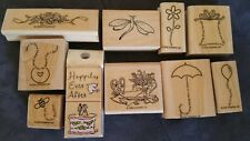 STAMPIN UP! HERO ARTS ALESA BAKER DESIGN MOUNTED RUBBER STAMPS LOTS
