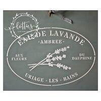 A4 Stencil French Farmhouse EAU DE LAVANDE Furniture Shabby Chic ❤ 190 MYLAR