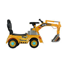 Digger Truck Foot to Floor Ride-On Set for Kids with Storage Compartme Xmas Gift