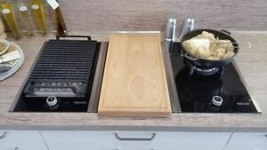 Profi Kochstellen Modul 3-er Einbau Kochfeld Grill - Induktionsfeld - Gas-Wok