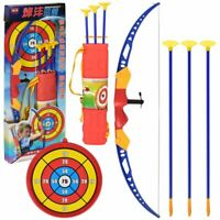 Kids Bow and Arrow Set Suction Cup Arrow w/ Target Safe Shooting Archery Toy NEW