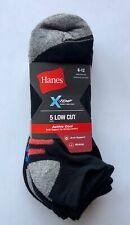 Men's Hanes X-temp 5pk Socks Size 6-12 Low Cut, Ankle, Liner—Black or White
