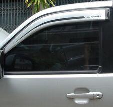 Wind Deflectors Visors/Rain Guards Tinted-Silver Wide Ford Ranger 06-12 2D 2pcs