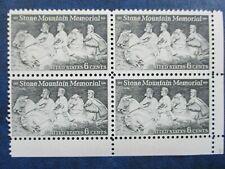 Lee, Jackson & Davis: Stone Mountain Memorial  block 4 stamps  #1408