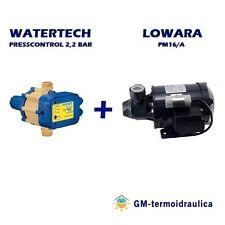 Kit Autoclave Elettropompa LOWARA PM16 Press Control WATERTECH 2,2 Motore Acqua