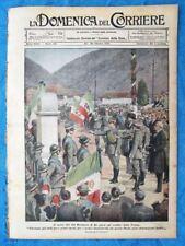 La Domenica del Corriere 30 ottobre 1921 Vittorio Emanuele III - Irlanda - Bixio