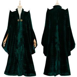 Cosplay Minerva McGonagall Adult Women Costume Party Halloween Suit