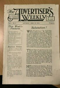 The Advertisers Weekly No 1 1913