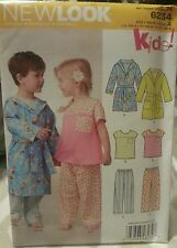New Look Kids! by Simplicity 6234 Sewing Pattern For Robes & PJs Sizes 1/2 - 4
