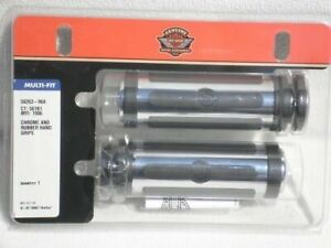Harley OEM NEW Chrome and Rubber Hand Grips -Pair - 56263-96A USA MADE