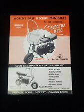 1961 Electra Mite electric minibike sales brochure 12V scooter mini