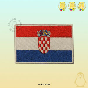 Croatia National Flag Embroidered Iron On Sew On Patch Badge For Clothes Etc