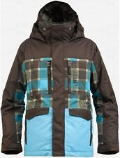 Burton Boys Distortion Snowboard Jacket (L) Grizzly Norsk Revolt Plaid