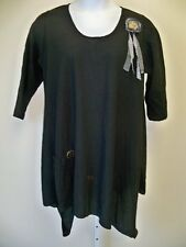 Lee Andersen  Opinion Tunic  NWT  1X   Black   Cotton Gauze