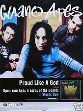 Guano Apes 2000 Proud Like A God Original Tour Promo Poster