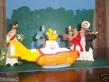 "THE BEATLES ""LEAD"" HAND PAINTED FIGURES "" YELLOW SUBMARINE "" FIGURES AND SUB."