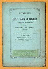 Catalogue de vente LIVRES RARES ET PRECIEUX M. Chedeau