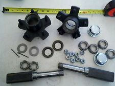 "TRAILER AXLE KIT! 2,000 lbs, 5 on4.5"" Idler Hubs Square Spindles FREE SHIPPING!"