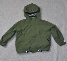 Hanna Andersson Green Anorak Jacket Lined Kids Size 110 4 5 6 Military