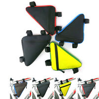 Bicycle Triangle Front Tube Frame Bag Waterproof Mountain Bike Tool Kit Pouch