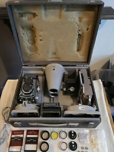 Philips PM9300 Rolleicopi + Rolleicord Vb TLR Film camera oscilloscope kit rare