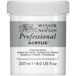 Winsor & Newton Professional Acrylic Paint 237ml in 644 Titanium White