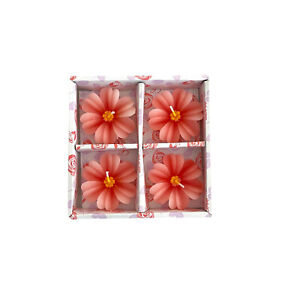 FLOATING CANDLES 4 PACK GERBERA 4 HOUR BURN TIME DECOR WEDDING EVENTS HOME