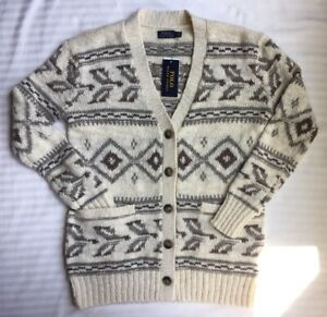 Polo RALPH LAUREN Wool CARDIGAN Size: XS (EXTRA SMALL) New SHIP FREE Sweater