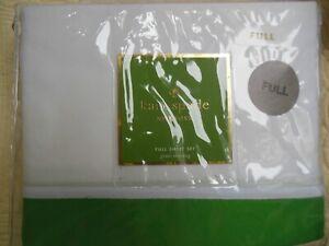 KATE SPADE - SPRING GREEN/WHITE FULL SHEET SET- 4 PC