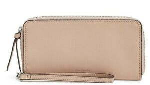 Vera Bradley Leather RFID Small wristlet Sycamore PINK SAND NWT Free Shipping