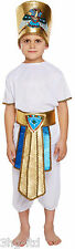 Boys 7-9 Egyptian King Book Week HISTORIC Fancy Dress Costume Kids Outfit