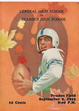 1955 CENTRAL VS BEARDEN HIGH SCHOOL KNOXVILLE TENN PRUDEN FIELD FOOTBALL PROGRAM