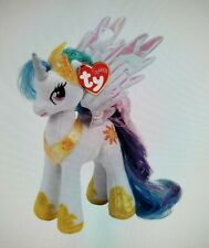 "TY My Little Pony 41182 Princess Celestia Sparkle Beanie Babies 9"" 23cm Rare New"