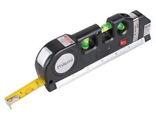 Laser Level Ruler US Multipurpose Vertical Horizon Measuring Tape Aligner New