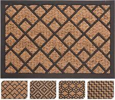 Coconut Fibre Coir Front Door Welcome Doormat 40x60cm ~ Geometric Design Varies
