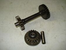 2005 Honda Rubicon 500 ATV Electric Start Reduction Idler Gears and Shafts