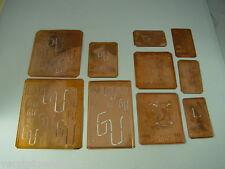 10 x GU Merkenthaler Monogramme, Kupfer Schablonen, Stencils, Patrons broder