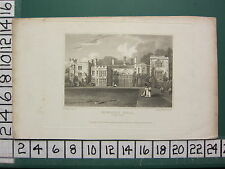 1821 DATED ANTIQUE YORKSHIRE PRINT ~ BOWLING HALL