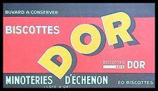 Buvard Publicitaire, Biscottes DOR - Minoteries d'Echenon (Côte d'Or)