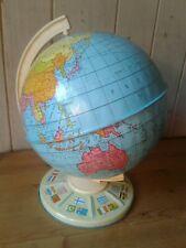 Original 1960's large Chad Valley tin plate terrestrial globe
