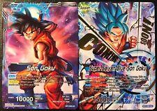 Bandai Dragon Ball Super Son Goku / Super Saiyan Blue Son Goku BT1-030 UC Promo!