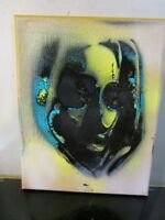 ABSTRACT NYC GRAFFITI CANVAS PAINTING BY MUSK YAI 8x10 2018 1 of a kind ~ 2PAC