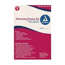 5 Pack Dynarex Cleansing Enema Set Disposable Colon Cleansing Kit #4711